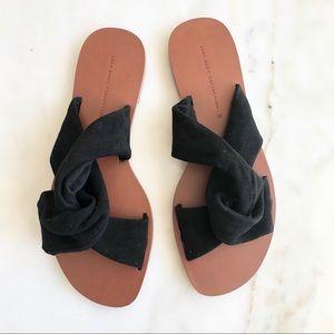 Zara Black Sandals 35 NEW